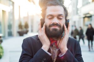 Man Listening to Yahuah Music from Set Apart Heart